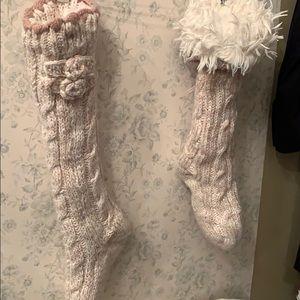 Lemon sock slippers
